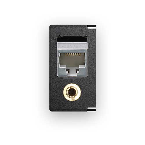 Audio-Connector 3.5mm with Cat.6 Data socket